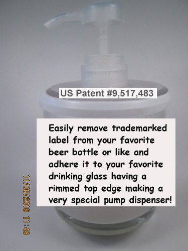 23 - apply a trademark label to your favorite drinking glass